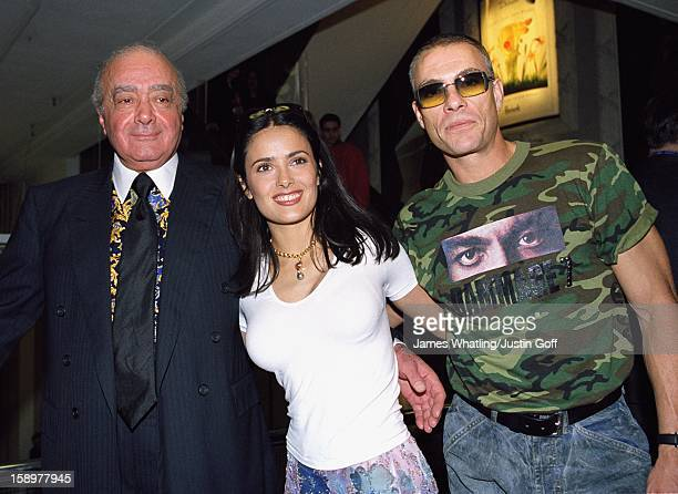Salma Hayek Officially Opens The 2001 'Harrods' July Sale, Accompanied By Jean Claude Van Damme.