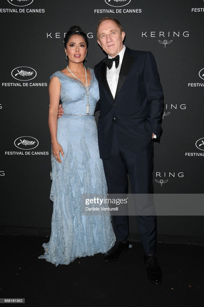 Salma Hayek Pinault (L) and CEO of Kering Francois-Henri Pinault attend the Women in Motion Awards Dinner, presented by Kering and the 71th Cannes Film Festival, at Place de la Castre on May 13, 2018 in Cannes, France.