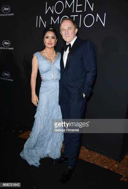 Salma Hayek Pinault and CEO of Kering Francois-Henri Pinault attends the Kering Women In Motion dinner during the 71st annual Cannes Film Festival at...