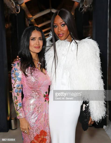 Salma Hayek Pinault and Naomi Campbell attend the mothers2mothers Winter Fundraiser hosted by Salma Hayek Pinault and FrancoisHenri Pinault The...