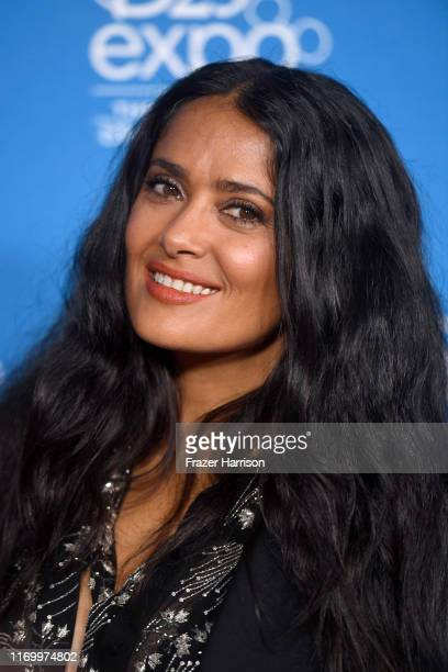 Salma Hayek Pinault attends Go Behind The Scenes with Walt Disney Studios during D23 Expo 2019 at Anaheim Convention Center on August 24 2019 in...