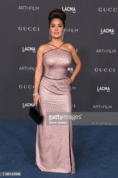 Salma Hayek Pinault attends the 2019 LACMA Art Film Gala Presented By Gucci at LACMA on November 02 2019 in Los Angeles California