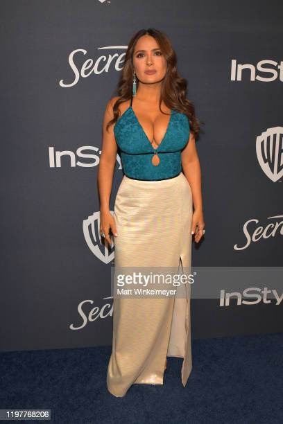 Salma Hayek Pinault attends The 2020 InStyle And Warner Bros 77th Annual Golden Globe Awards PostParty at The Beverly Hilton Hotel on January 05 2020...