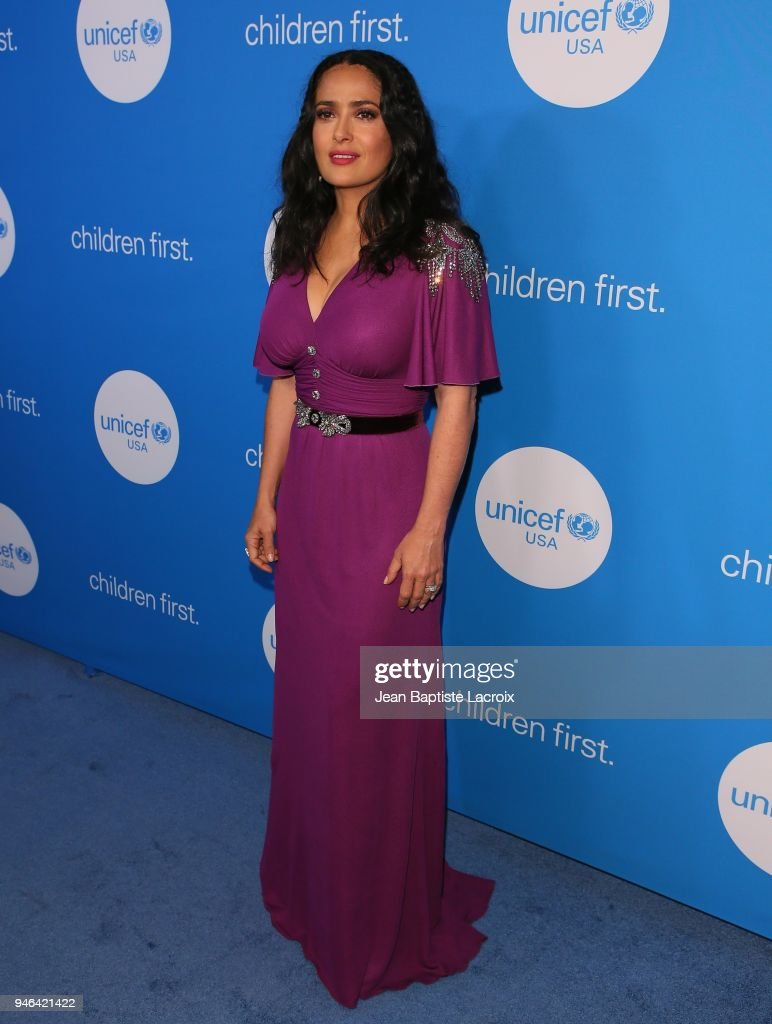 Salma Hayek Pinault attends the 7th Biennial UNICEF Ball at the Beverly Wilshire Four Seasons Hotel on April 14, 2018 in Beverly Hills, California.