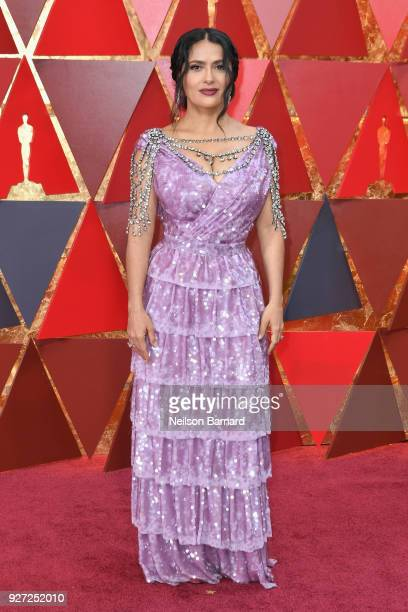 Salma Hayek Pinault attends the 90th Annual Academy Awards at Hollywood Highland Center on March 4 2018 in Hollywood California