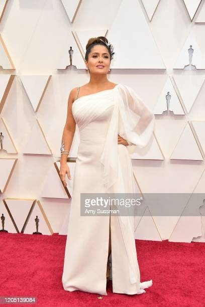 Salma Hayek Pinault attends the 92nd Annual Academy Awards at Hollywood and Highland on February 09, 2020 in Hollywood, California.