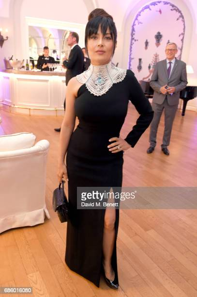 Salma Hayek Pinault attends the Vanity Fair and HBO Dinner celebrating the Cannes Film Festival at Hotel du CapEdenRoc on May 20 2017 in Cap...