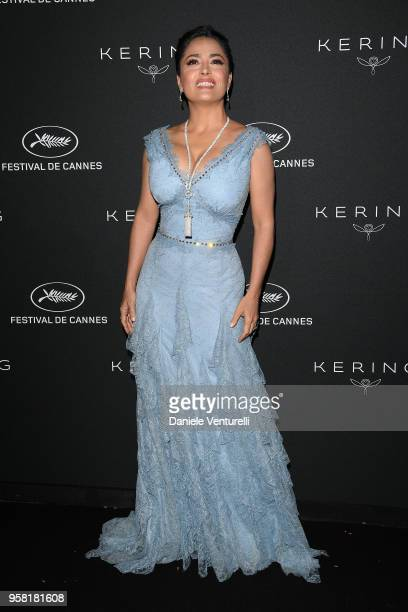 Salma Hayek Pinault attends the Women in Motion Awards Dinner presented by Kering and the 71th Cannes Film Festival at Place de la Castre on May 13...