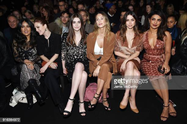 Salma Hayek Pinault Julianne Moore Liv Freundlich Dylan Penn Ana de Armas and Priyanka Chopra attend the Bottega Veneta Fall/Winter 2018 fashion show...
