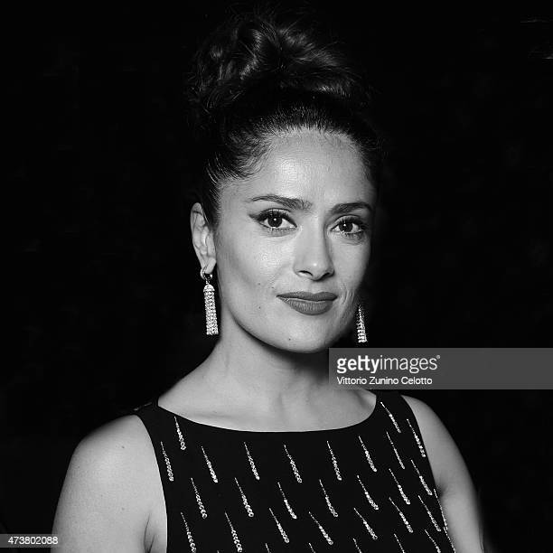 Salma Hayek Pinault poses at the Kering Official Cannes Dinner at Place de la Castre on May 17, 2015 in Cannes, France.