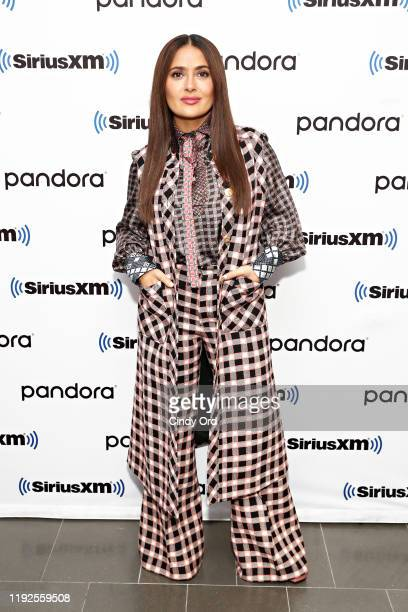 Salma Hayek poses for a photo during SiriusXM's Town Hall with the cast of 'Like A Boss' hosted by Hoda Kotb at the SiriusXM Studio on January 8 2020...