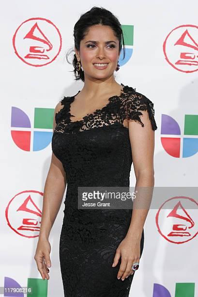 Salma Hayek presenter during The 6th Annual Latin GRAMMY Awards Press Room at Shrine Auditorium in Los Angeles CA United States