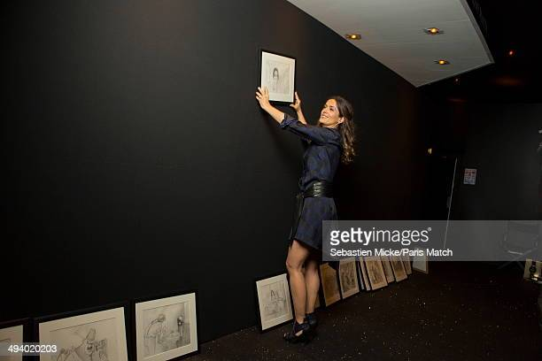 "Salma Hayek producer of the cartoon ""The Prophet"" in the projection room of the Palais du Festival during the 67th Cannes film festival on May 16,..."