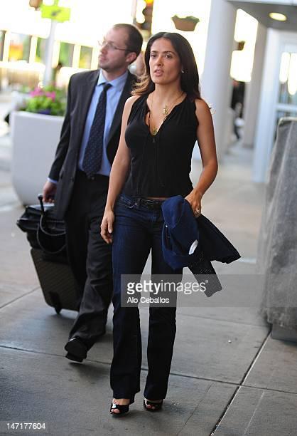 Salma Hayek sighting on June 26 2012 in New York City