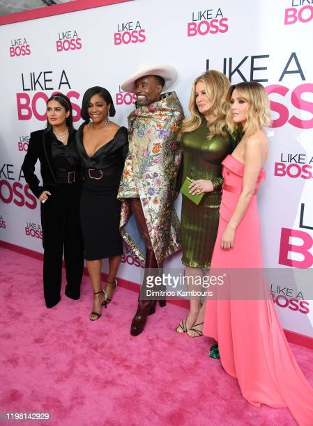 "Salma Hayek, Tiffany Haddish, Billy Porter, Jennifer Coolidge and Rose Byrne attend the world premiere of ""Like A Boss"" at SVA Theater on January 07,..."