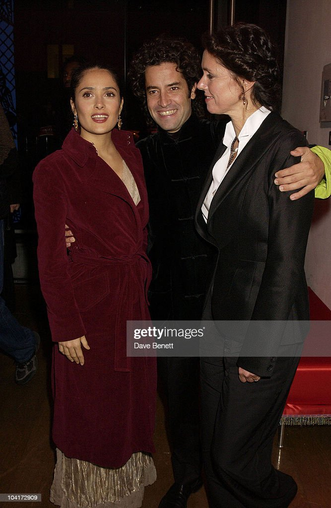 Salma Hayek With Felipe Fernande Del Posa And Julie Taymor, 'Frida' Premiere After Party At Haunch Of Venison, London