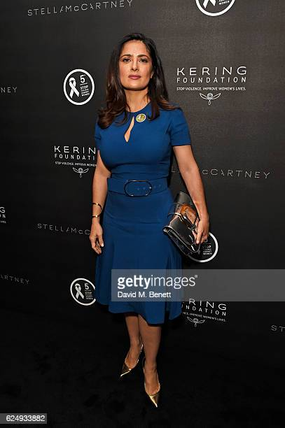 Salma HayekPinault attends a VIP screening of the awardwinning documentary 'Sonita' hosted by FrancoisHenri Pinault Salma HayekPinault and Stella...