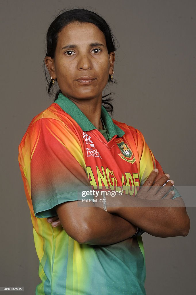 Salma Khatun captain of Bangladesh poses for a portrait during the women's headshot session before the start of the ICC Women's World T20 at the...