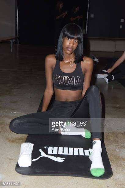 Salma Slims attends PUMA Hosts CAMP PUMA To Launch Their Newest Women's Collection Velvet Rope at Goya Studios on August 3 2017 in Los Angeles...