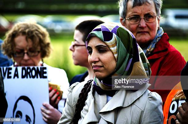 Salma Yaqoob at the Protest against US bases menwith hill July 4th 2013