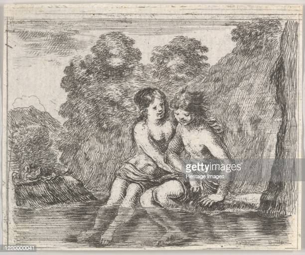 Salmacis and Hermaphrodite from 'Game of Mythology' 1644 Artist Stefano della Bella
