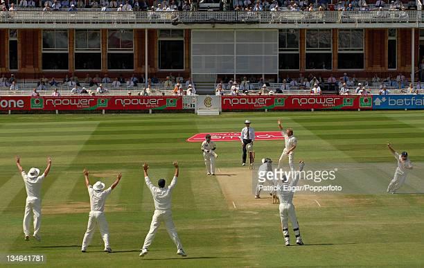 Salman Butt lbw Matthew Hoggard first ball England v Pakistan 1st Test Lord's Jul 06