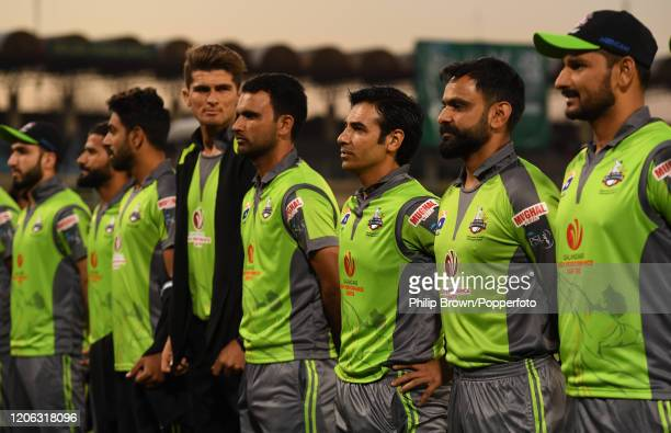 Salman Butt of Lahore Qalanders lines up before the T20 match between an MCC team and Lahore Qalandars at Gaddafi stadium on February 14, 2020 in...