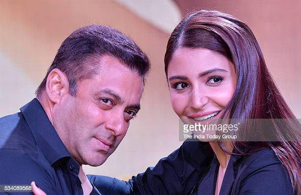 Salman Khan and Anushka Sharma at the theatrical trailer launch of their upcoming movie Sultan at Film City in Mumbai