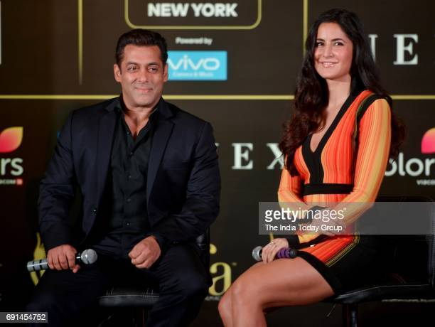 Salman Khan and Katrina Kaif during the press conference of 18th International Indian Film Academy awards in Mumbai
