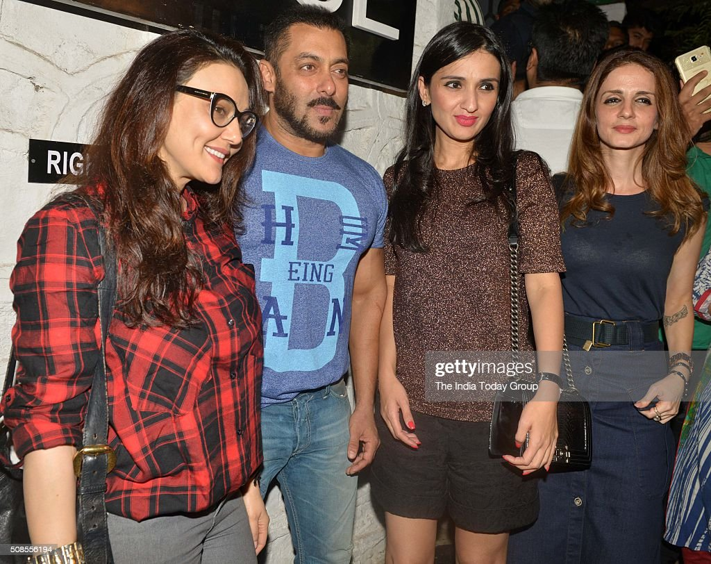 Salman Khan and Preity Zinta at Nido Bar in Bandra Mumbai