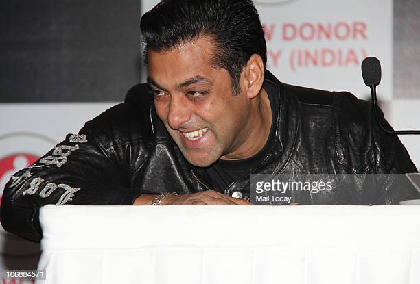 Salman Khan at a charity event for Being Human in Mumbai on November 13 2010