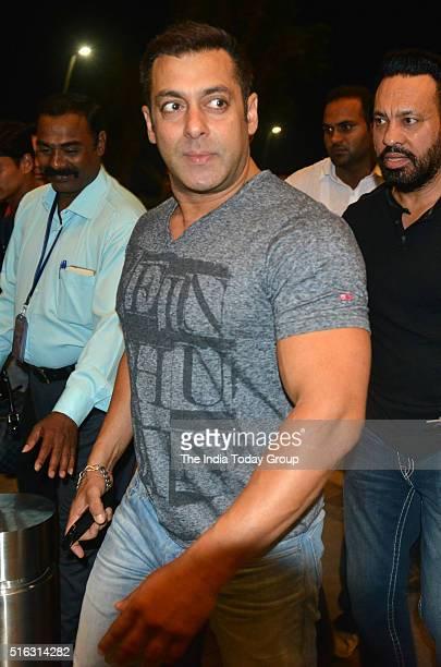 Salman Khan at Mumbai Airport leaving for TOIFA Awards 2016 in Mumbai