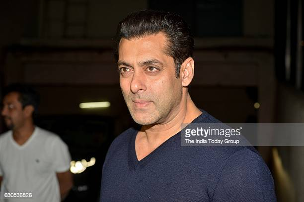 Salman Khan at the special screening of movie 'Dangal' at Light Box Mumbai