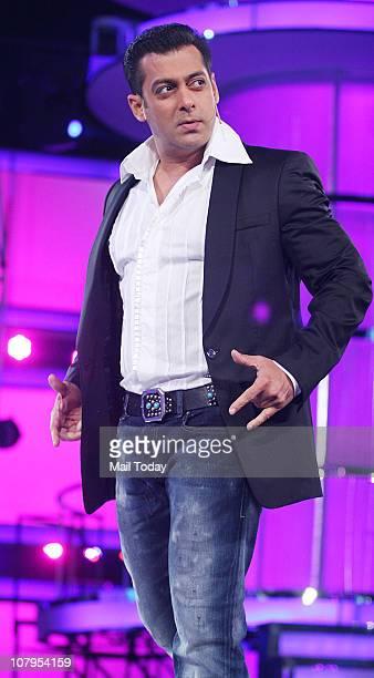 Salman Khan during the grand finale of the reality show Big Boss Season 4 Shweta Tiwari was declared the winner of the show