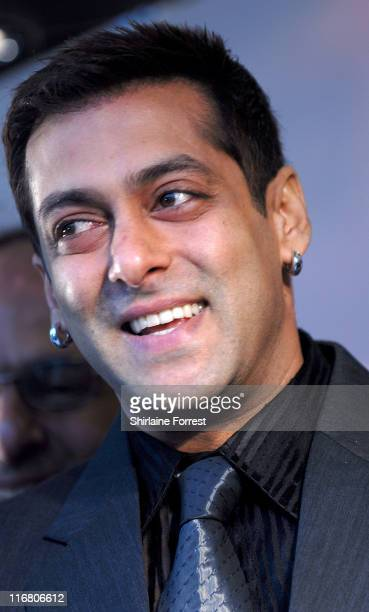 Salman Khan during 'The Train' UK Film Premiere Green Carpet Arrivals at Cineworld in Castleford West Yorkshire United Kingdom