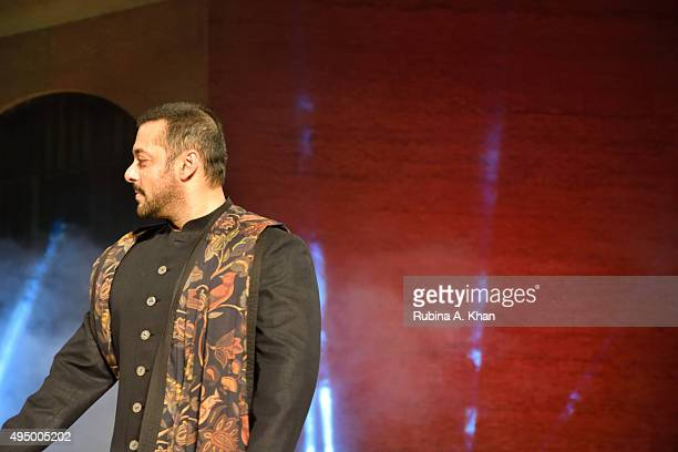 Salman Khan in a khadi ensemble by designer Rohit Bal at the Fashion Design Council of India's Huts to High Street - a fashion show organised to...