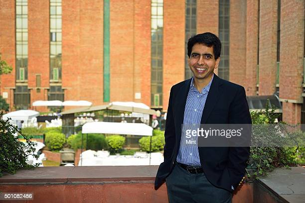 Salman Khan the promoter of US based Khan Academy during an interview at India Habitat Centre on December 3 2015 in New Delhi India According to Khan...