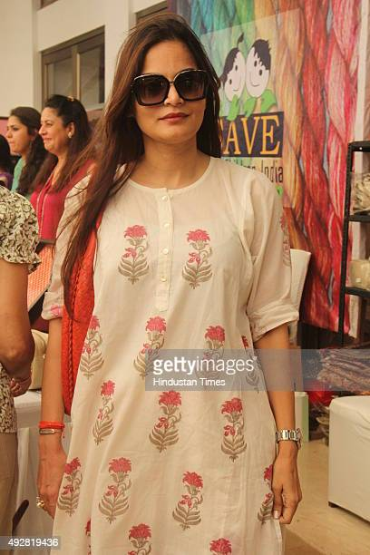 Salman Khan's sister Alvira at Mana Shetty's designer store anniversary celebrations at Araaish Exhibition centre at Blue Sea Worli on October 14...
