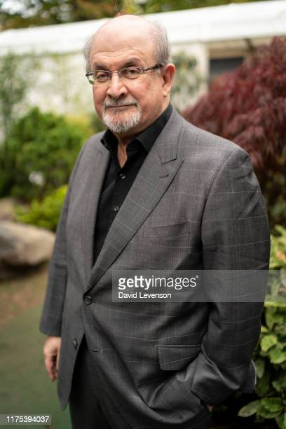 Salman Rushdie, 2019 Booker Prize, shortlisted author, at the Cheltenham Literature Festival 2019 on October 12, 2019 in Cheltenham, England.