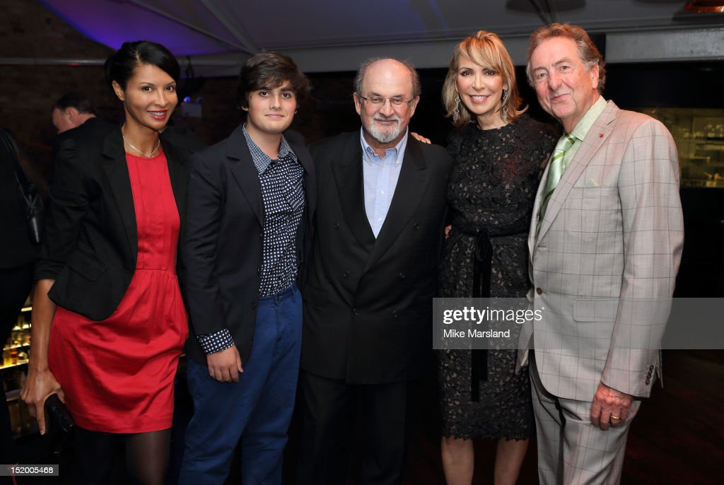Salman Rushdie and Eric Idle attend the launch of Salman Rushdie's new book 'Joseph Anton' on September 14, 2012 in London, England.