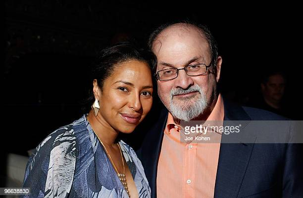 Salman Rushdie and guest attend the Pier 59 Studios 15th anniversary party at Pier 59 Studios on February 12 2010 in New York City