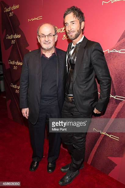 Salman Rushdie and Indochine owner Jean Marc Houmard attend Indochine's 30th Anniversary Party at Indochine on November 7, 2014 in New York City.