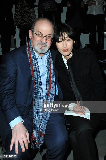 Salman Rushdie and Jihae Kim at the 31 Phillip Lim Fall 2011 fashion show during MercedesBenz Fashion Week at St John's Center Studios on February 16...