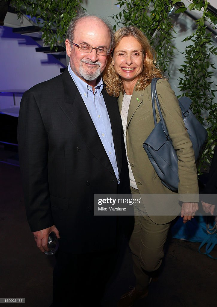 Salman Rushdie and Maryam d'Abo attend the launch of Salman Rushdie's new book 'Joseph Anton' on September 14, 2012 in London, England.