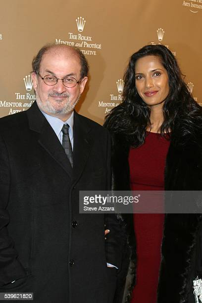 Salman Rushdie and Padma Lakshi at the Rolex Mentor and Protege Arts Initiative gala dinner at The New York State Theater