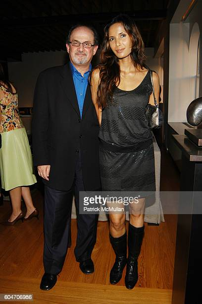 Salman Rushdie and Padma Lakshmi attend Cocktail Party to Benefit UJA FEDERATION OF NEW YORK and Honor GLAMOUR EditorinChief CINDI LEIVE at Home of...
