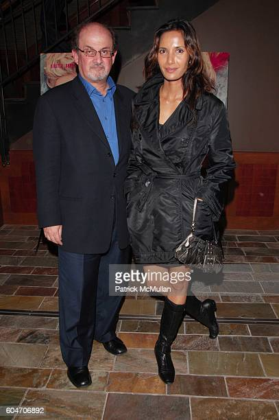 Salman Rushdie and Padma Lakshmi attend Marie Antoinette Screening at Tribeca Grand NYC on September 18 2006