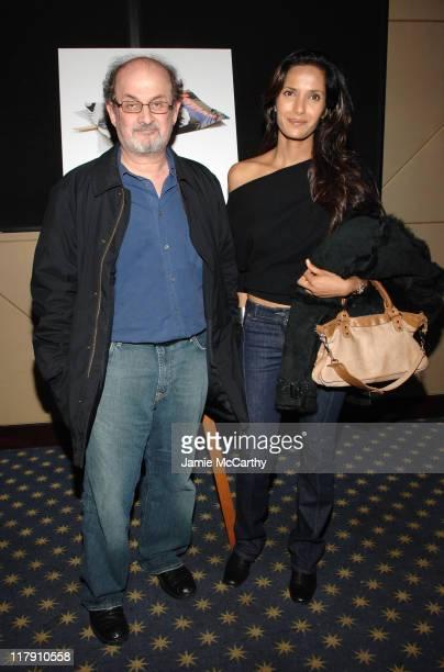 Salman Rushdie and Padma Lakshmi during Bobby New York City Screening November 14 2006 at Dolby screening room in New York City New York United States