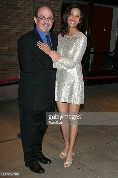 Salman Rushdie and Padma Lakshmi during Glamour Magazine Honors The 2006 Women of The Year Outside Arrivals at Carnegie Hall in New York City New...