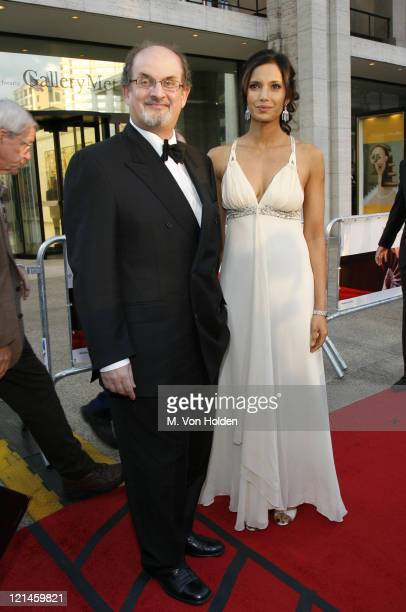 Salman Rushdie and Padma Lakshmi during Madama Butterfly Opening Night Starting the Lincoln Center Metropolitan Opera 20062007 Season at Lincoln...